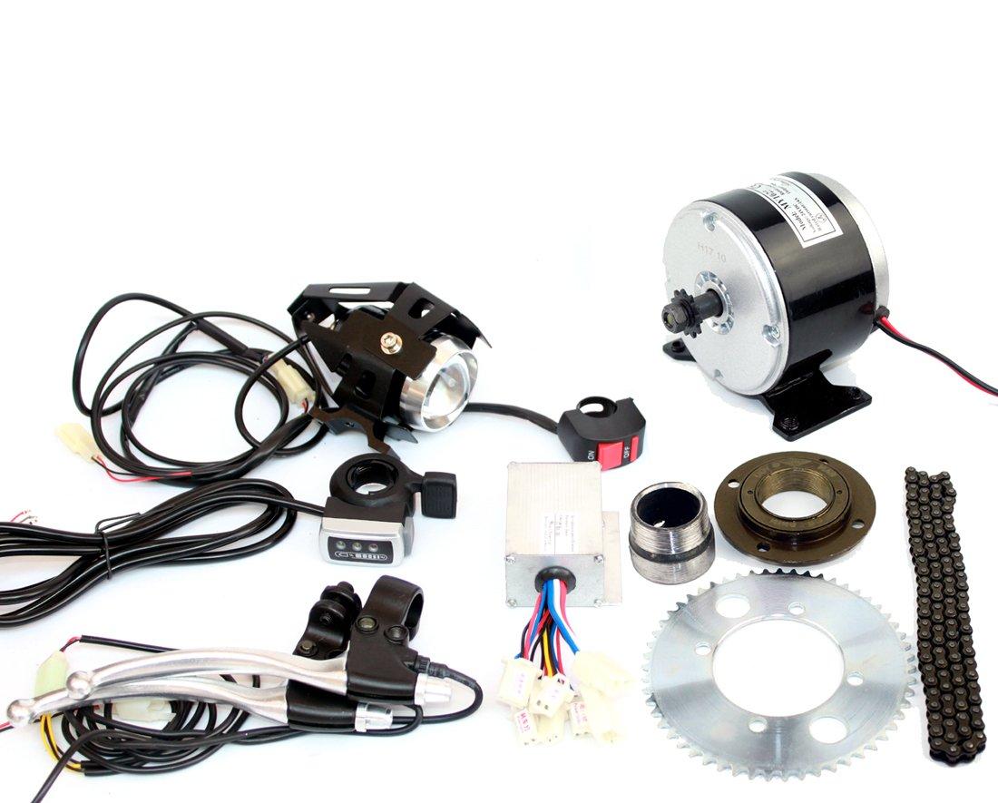 24ボルト250ワット電動ミニスクーターエンジンチェーンドライブシステム電動小さなバイク交換モーターキット自家製ドリフトカートドライブキット B07C211R2J thumb throttle kit thumb throttle kit