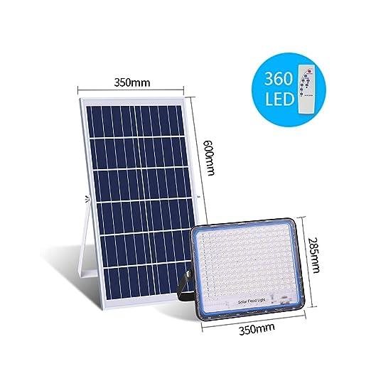 Solar Foco Proyector LED con Mando a Distancia, IP66 Exterior ...
