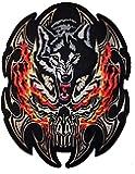 Patch escudo lobo agresivo para BLOUSON–Chaqueta y chaleco Biker