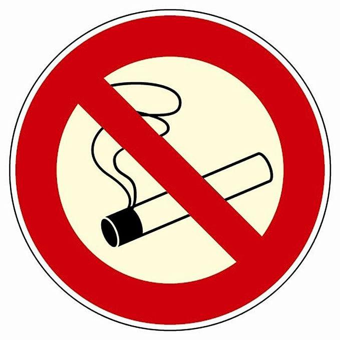 Cartel de prohibido fumar tachará, Tamaño: 200 x 200 mm ...