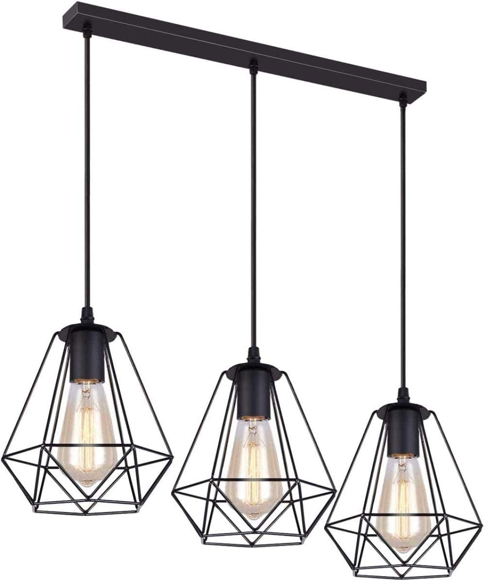Rouge HomeDecTime Support Dabat-Jour pour Lampe /à Suspension Light Diamond Vintage Iron Iron Abat-Jour Cage L/ég/ère