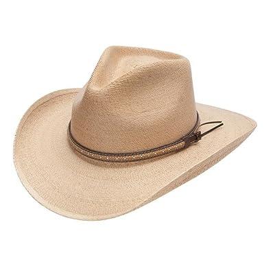 Stetson   Dobbs OSSMIL-4034 Mens Sawmill Palm Leaf Straw Western Hat ... 4f0e4cc976d