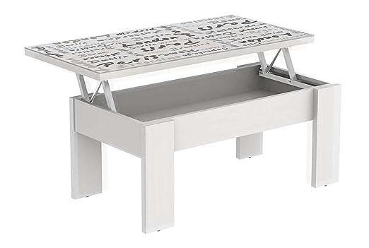 LIQUIDATODO ® - Mesa de centro elevable moderna y barata blanco ...
