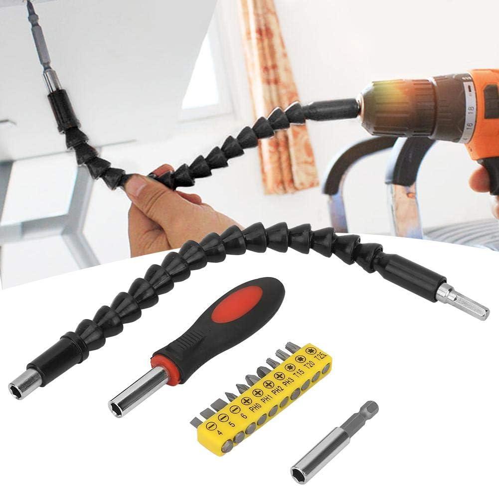 Screwdriver Flexible Shaft Extension Lightweight Multi Type Bits Electric Screwdriver Universal Flexible Shaft Drill Bit Extension Set