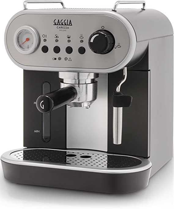 Gaggia Carezza Deluxe Espresso Coffee Machine, Silver & Black ...