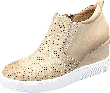 Womens Wedge Platform Sneakers High