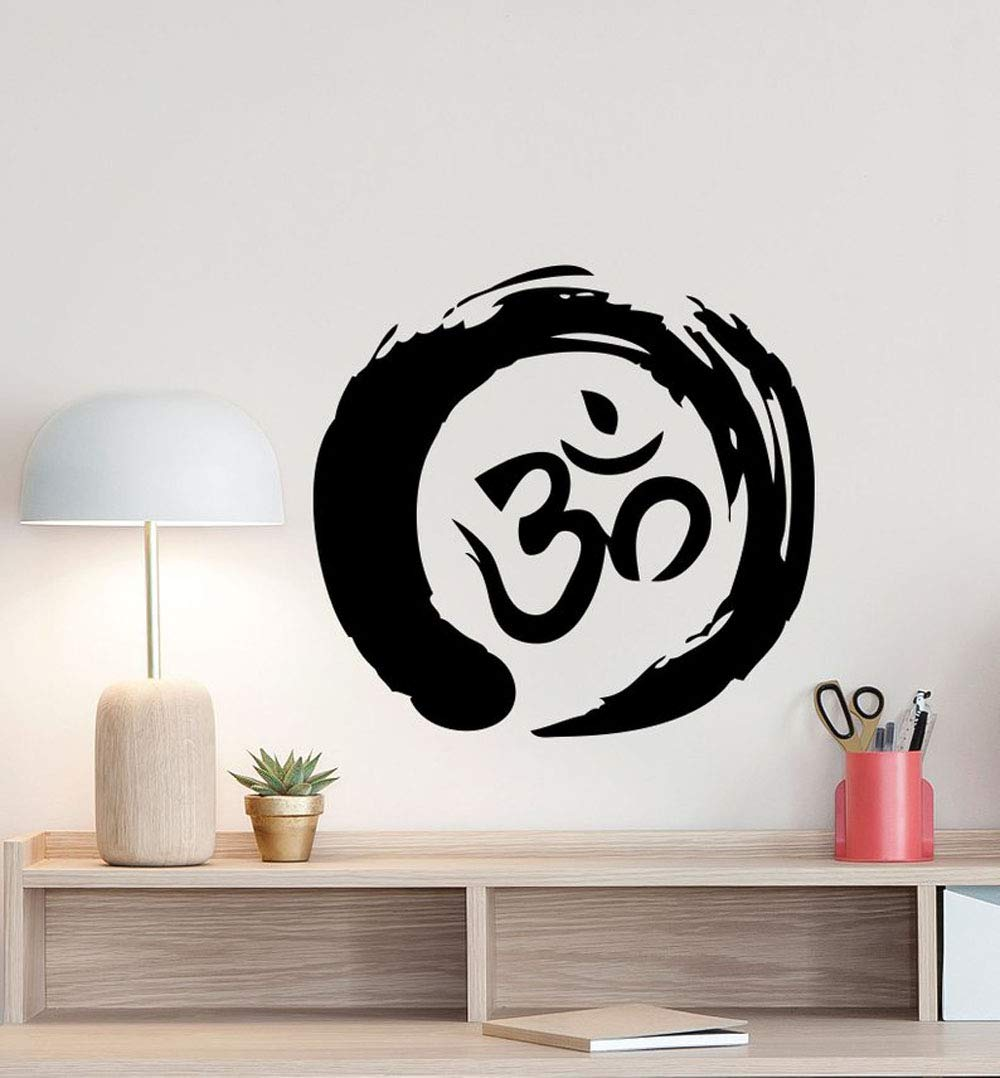 ONETOTOP Zen Circle Om Símbolo Tatuajes de Pared Ohm Budismo ...