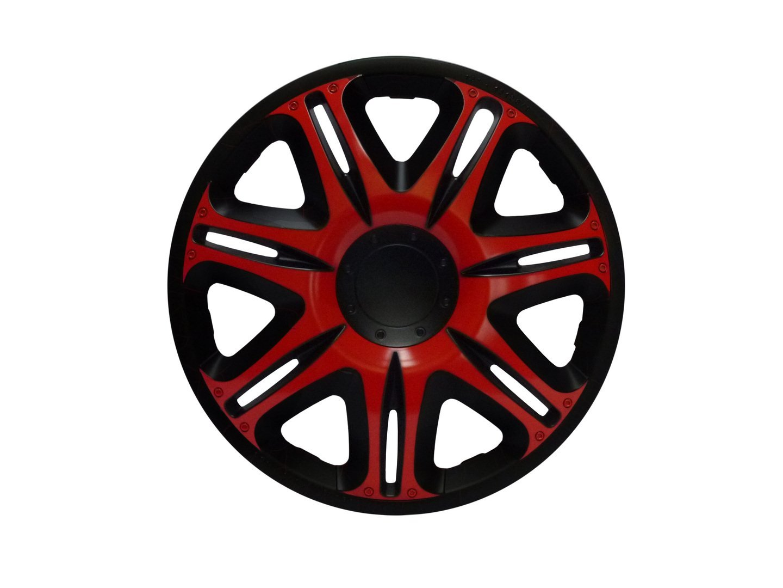 ZentimeX Z732961 Radkappen Radzierblenden universal 13 Zoll RED-BLACK