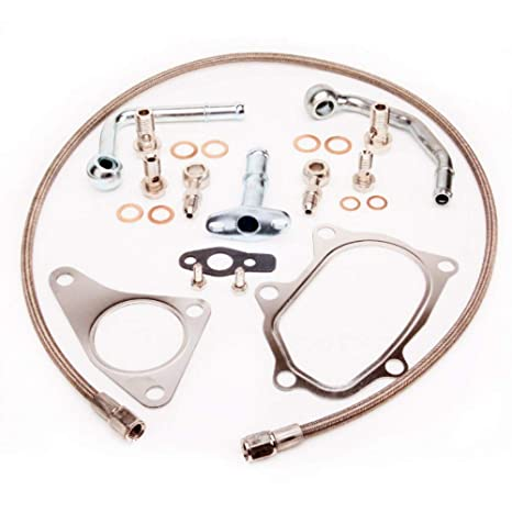 Turbo de agua y aceite línea instalar Kit w/M10 X 1,5 mm
