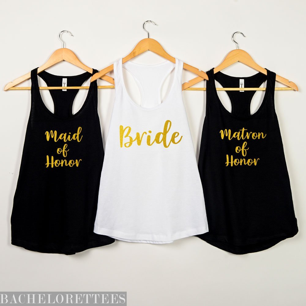 bride squad tanks bridal party bridesmaid gifts Bride Tshirts