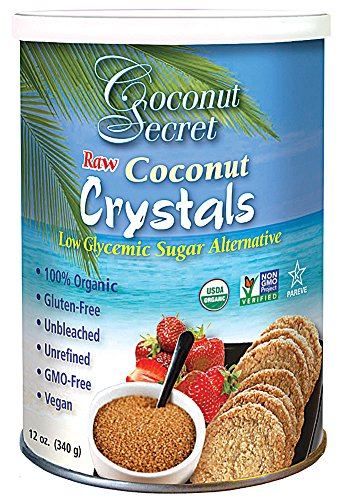 Coconut Secret Organic Raw Coconut Crystals, 12 Ounce -- 12 per case. by Coconut Secret