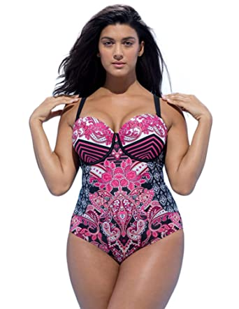 05bcbdef2b1 Swim Sexy Women s Mastermind Baroque Underwire Swimsuit at Amazon ...