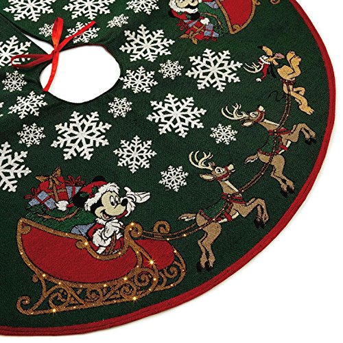 Hallmark Mickey Mouse Oh, What Fun! Tree Skirt with Light by Hallmark (Image #1)