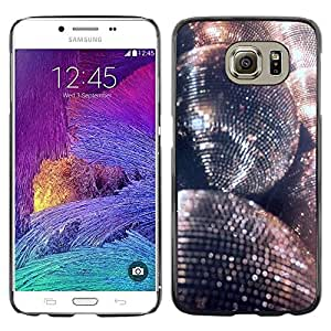 Planetar® ( Disco Ball Glitter Silver Ball Dance Party ) Samsung Galaxy S6 / SM-G920 / SM-G920A / SM-G920T / SM-G920F / SM-G920I Fundas Cover Cubre Hard Case Cover