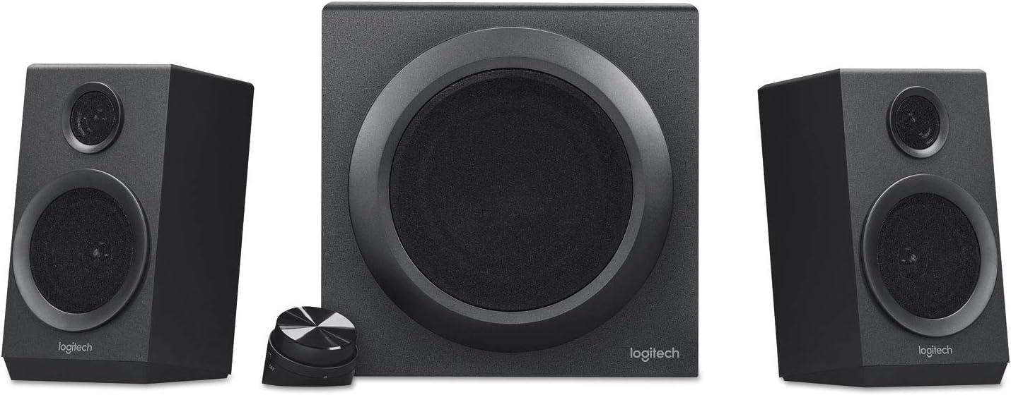 Logitech 980001203 Z333 Multimedia Speakers, Black