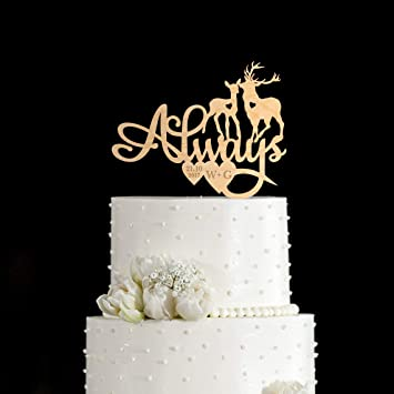 Harry Potter Wedding Cake.Always Cake Topper Deer Cake Topper Harry Potter Cake Topper