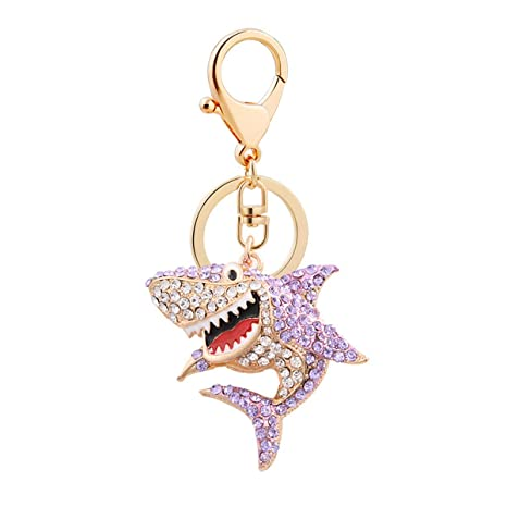 Amazon.com: Llavero con diseño de tiburón con clip y ...
