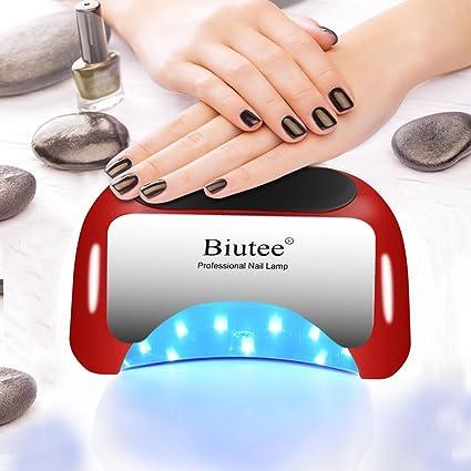 Biutee 48W Secador de Uñas Professional Lámpara UV Nail LED Sensor Automático con Temporizador de 10