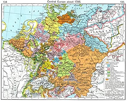 Amazon.com: EUROPE. Central Europe about 1786 - 1956 - old map ...