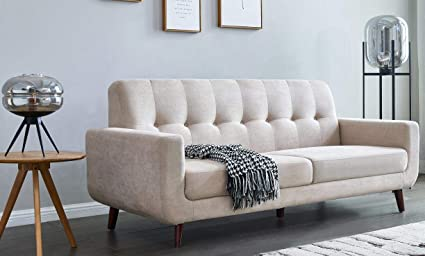 Modern Luxury Living Room.80 Inch Wide Sofa Beige Julyfox Modern Luxury Living Room Couch 3 Seater Button Tufted Loveseat Sofa Soft And Durable Polyester Fabric 6 3 Inch