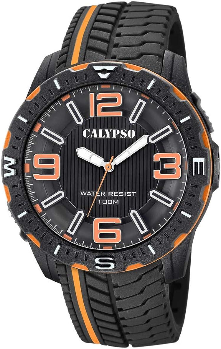 Calypso Watches Reloj Analógico para Hombre de Cuarzo con Correa en Plástico K5762/3