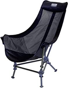 ENO - Eagles Nest Outfitters Lounger DL Camping Chair, Outdoor Lounge Chair, Black/Charcoal