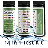 #2: Water Test Strip Kit - 14 in 1, 14-Way for Drinking Water Quality, Way Water, Hard Water and Total Hardness, Water Softener Systems, Spas, Hot Tubs, Fish Tanks and Aquariums. Easy Professional Results