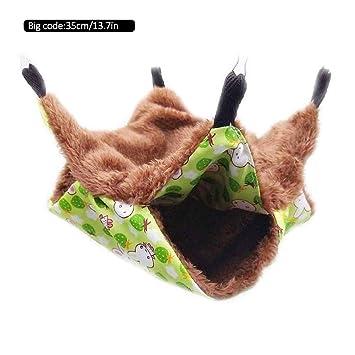 Brownrolly - Hamaca para Mascotas de Doble Capa, Saco de Dormir para Gato, Almohadilla