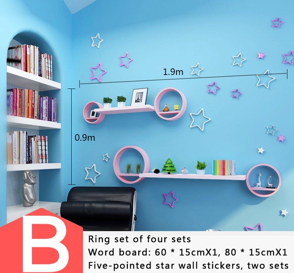 ALUP- ラウンドクリエイティブ漆塗り、テレビの壁の装飾棚、棚、バッフルの壁の棚、壁 ( 三 : B ) B07CBYZSDW B