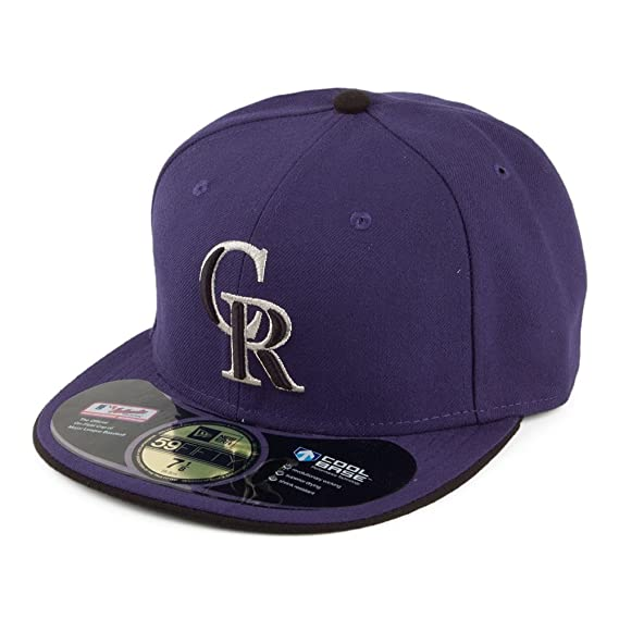 buy online 71017 cded4 New Era 59FIFTY Colorado Rockies Baseball Cap - On Field - Alt 2 7 1 4   Amazon.co.uk  Clothing