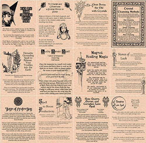 12 Book of Shadows Spells Pages on Crystals, Wicca, Witchcraft, Crystal Magic, Metaphysical Crystal Work (Copper)