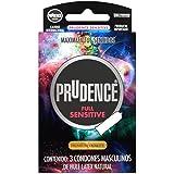 Condones Prudence, Full Sensitive, Dual Lub, con 3 PRESERVATIVOS