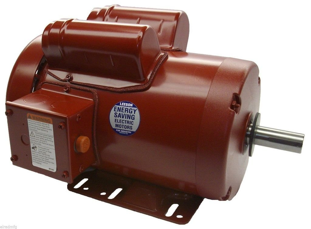 Leeson 110090.00 General Purpose Agricultural Motor, 1 Phase, 56HZ Frame, Rigid Mounting, 2HP, 1800 RPM, 230V Voltage, 60Hz Fequency