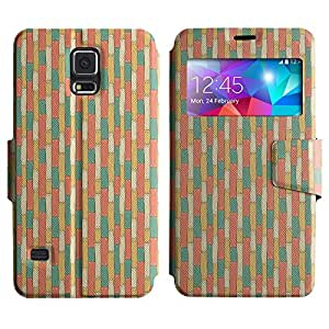 LEOCASE línea vertical Funda Carcasa Cuero Tapa Case Para Samsung Galaxy S5 I9600 No.1004624