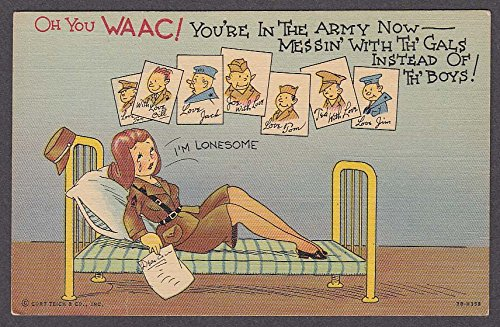 WAAC US Army comic postcard 1940s Curt Teich, used for sale  Delivered anywhere in USA