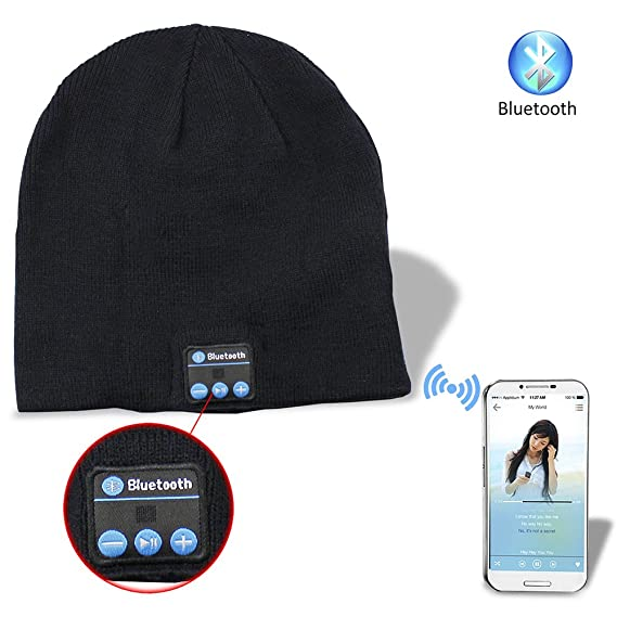 5c74f131c9c Image Unavailable. Image not available for. Color  Aike® Soft Warm Beanie  Hat Wireless Bluetooth Smart Cap w  Headphone Headset Speaker Mic