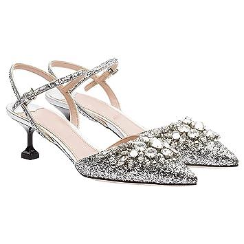 Ren Chang Sandalias Mujer Shi Zapatos Vestir Pin De Firm Jia Para HYWI2DE9