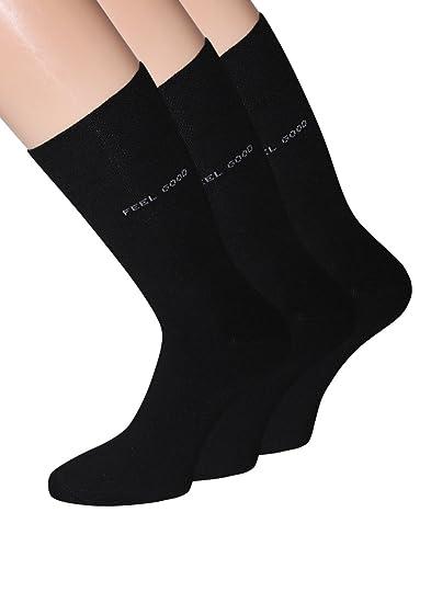 Hombre Calcetines Negro Business Calcetines Negro Algodón Negra Calcetines Hombre comodidad cintura sin costuras 43 - 46 39 - 42, 3 pares: Amazon.es: Ropa y ...