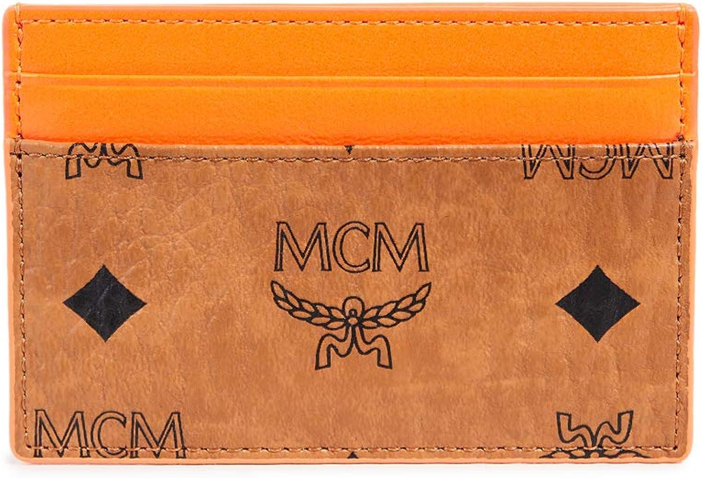 MCM Mens Visetos Mini Card Case