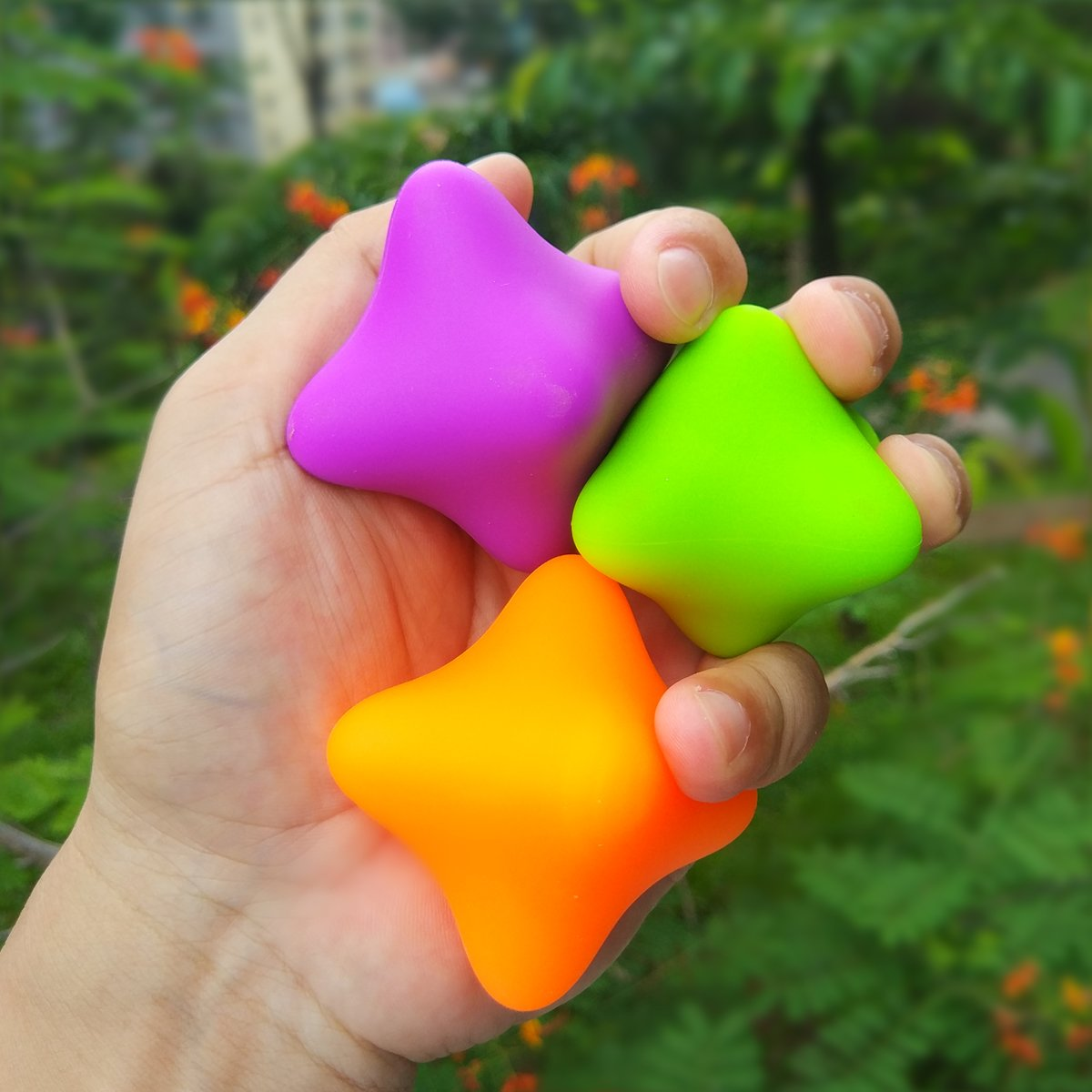 Kontii Stress Ball Fidget Anxiety Reliever for Adults Kids with ADHD//OCD//Autism 3 Pack Stress Relief Toys for Hand Grip Strengthen Finger Exercise
