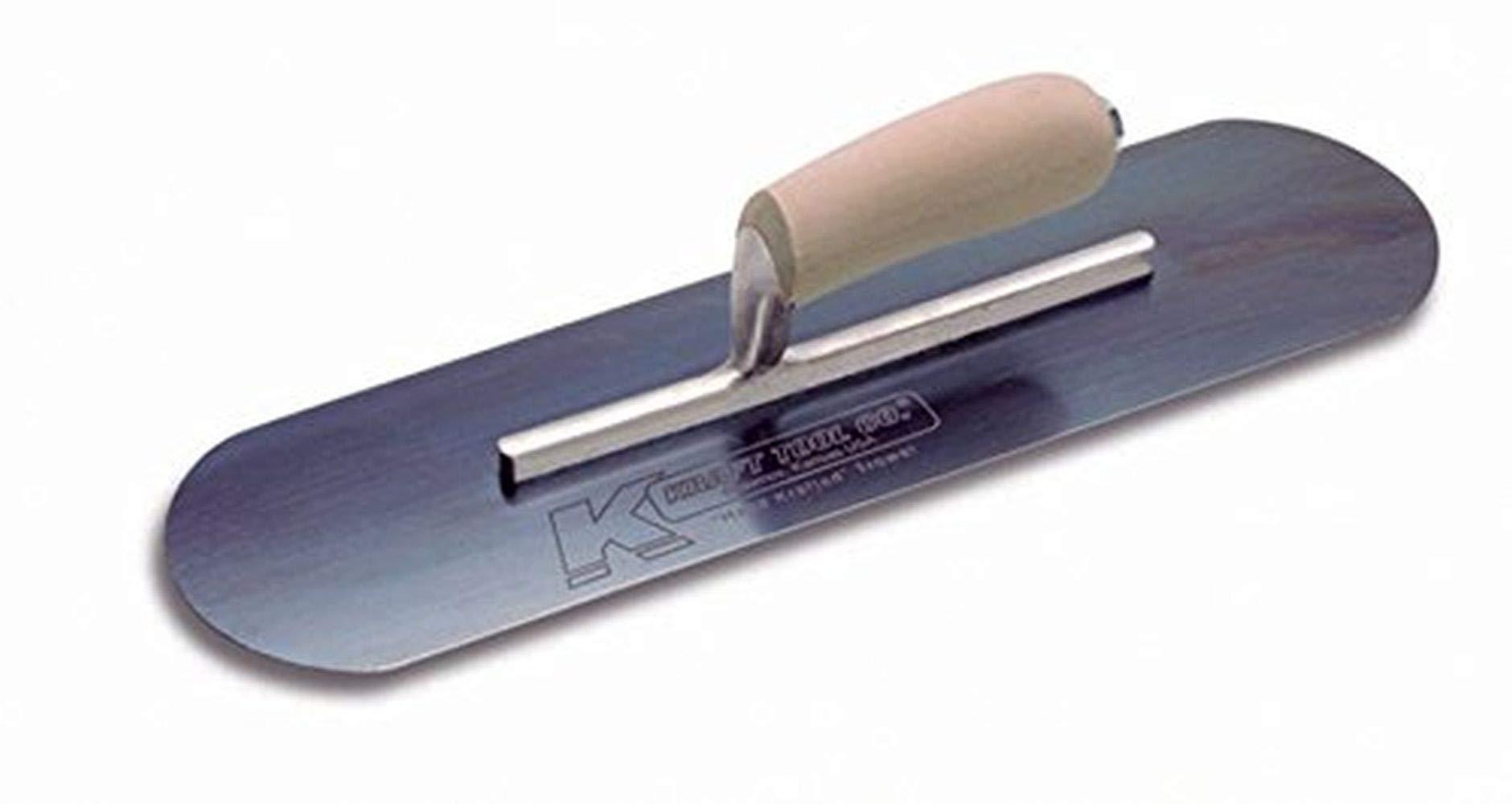 Kraft Tool CFE295B Elite Series Five Star Blue Steel Pool Trowel with Wood Handle, 20 x 5-Inch by Kraft Tool