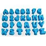 Mirenlife 26 Alphabet Shape Silicone Mold Set, A to Z Letters Non Stick Silicone Molds for Cake, Cupcake, Chocolate, Pastry, Muffin, Bread, Big Ice Cube, Soap, and More