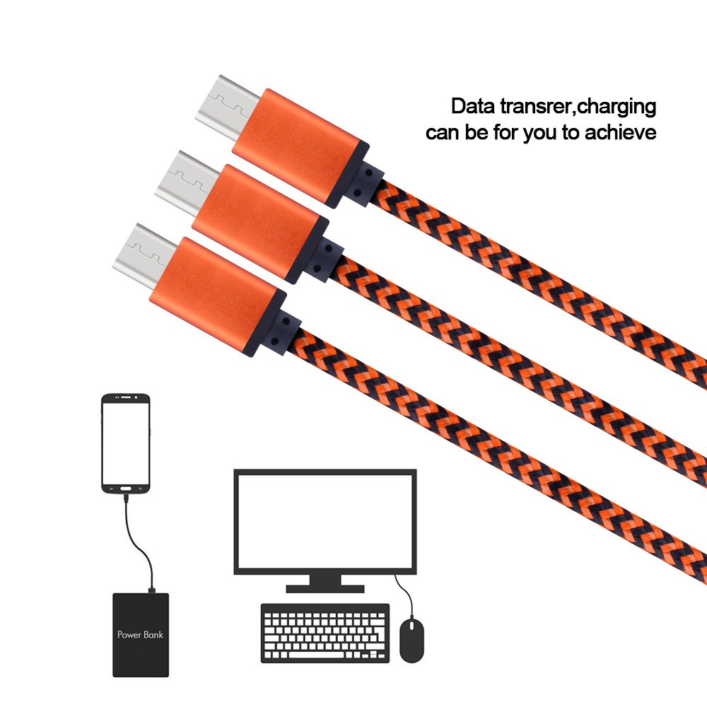 Micro USB Cable, Sicodo High Speed [5-Pack] 6FT Premium Nylon Braided USB 2.0 A Male to Micro B Data Sync and Charger Cables for Samsung Galaxy S7, Note 5, HTC, Motorola, Sony and More Android Phones by Sicodo (Image #4)