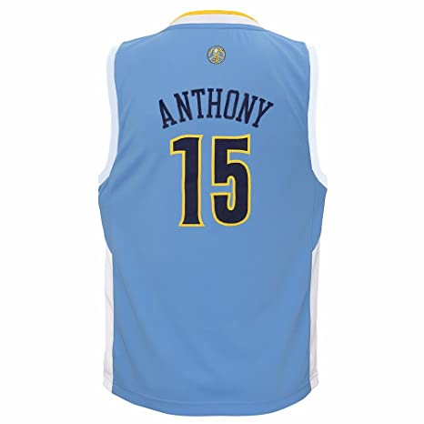 415b7e9c4c0 adidas Carmelo Anthony Denver Nuggets NBA Boys Light Blue Official Road  Replica Basketball Jersey (4