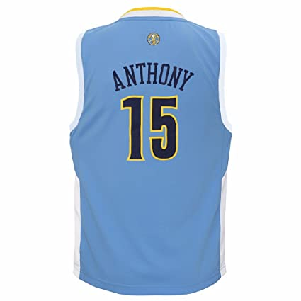 cfc038c49df discount adidas carmelo anthony denver nuggets nba boys light blue official  road replica basketball jersey 4