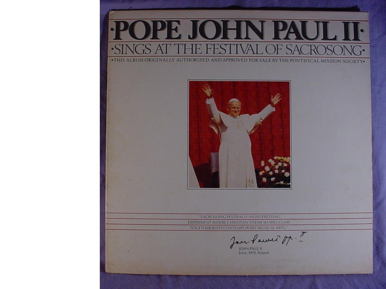 Pope Discount mail order John Paul II Near Mint San Jose Mall Station Stereo Lp Promo Radio Gate