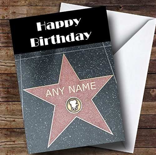 Hollywood Star Walk Of Fame Funny Personalized Birthday Greetings Card