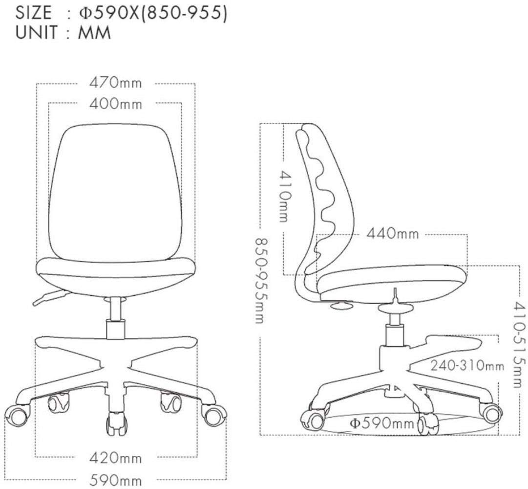 Barstolar Xiuyun svängbar stol kontorsstol spelstol uppgift skrivbordsstol datorstol skrivbordsstol multifunktion rotera lyfthöjd inget armstöd tyst remskiva (färg: Mörkgrå) Khaki