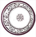 Large Haindpainted Burgundy Moroccan Ceramic Bowl