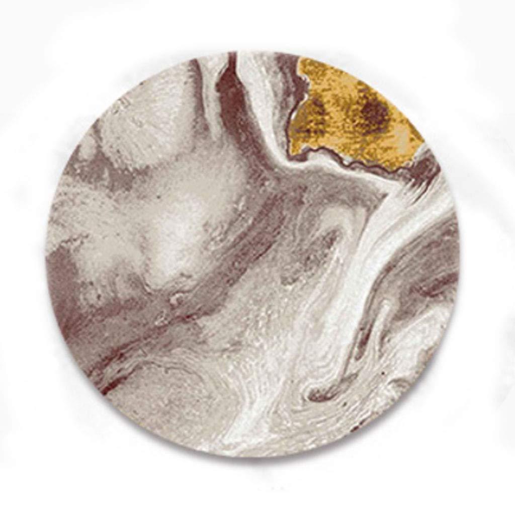 @プチコット RUGシンプルラウンドカーペット抽象的なアート回転チェアブランケット (色 : 1#, サイズ さいず : Round 160cm) Round 160cm 1# B07HR9ZB72